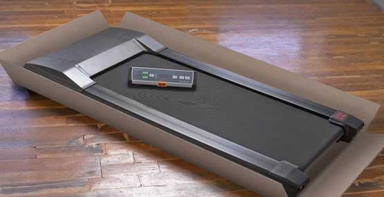 Pre-assembled treadmill for desk