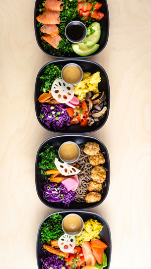 Healthy bento bowls, salads. Bento Picnic ATX