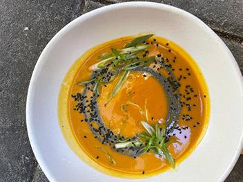 delicious healthy soup at Botanica Los Angeles