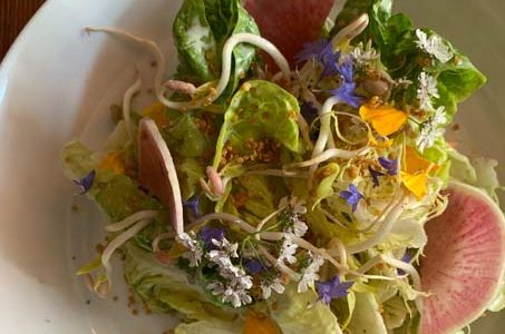 beautiful locally sourced salad at 3rd Cousin, San Francisco