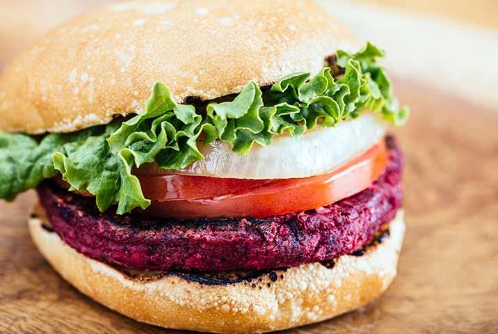 delicious organic plant-based burger in San Francisco