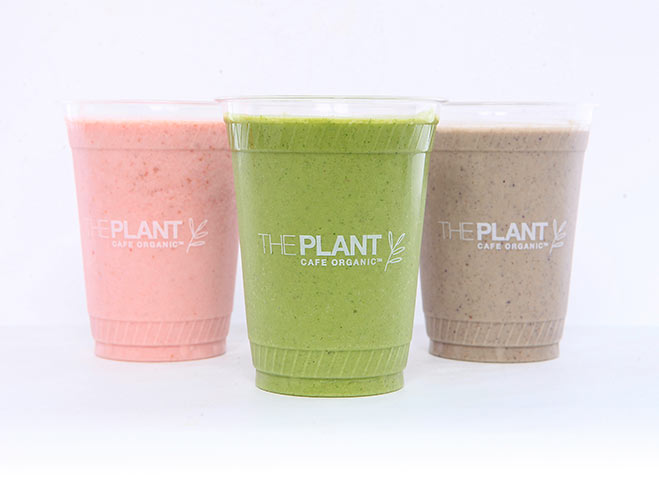 all-organic plant-based smoothies at The Plant Cafe Organic San Francisco